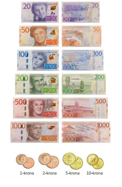 nya sedlar och mynt